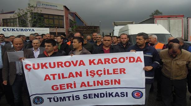 Çukurova Kargo'da Sendika Düşmanlığı Protesto Edildi