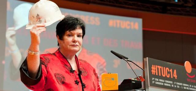 ITUC Kongresinde Soma İşçileri Anıldı
