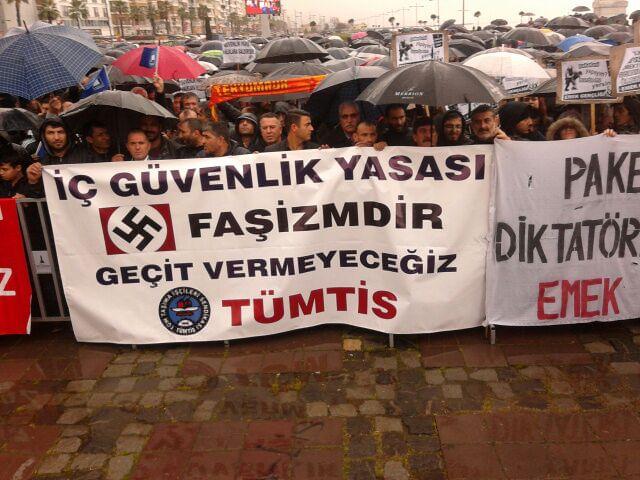 """İzmir'de """"İç Güvenlik Paketi"""" Protesto Edildi"""