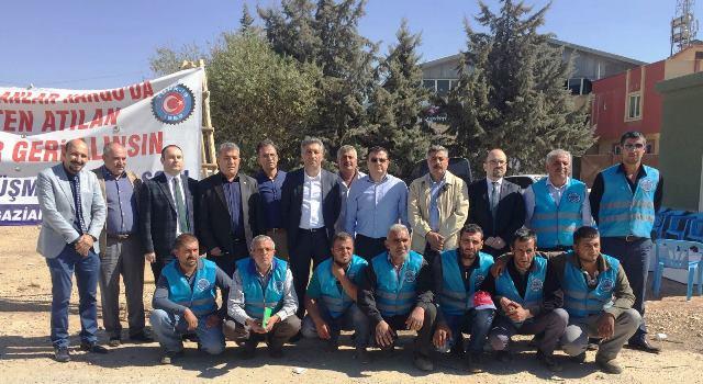 Gaziantep Emek Örgütlerinden Babacanlar Kargo Direnişimize Destek Ziyareti