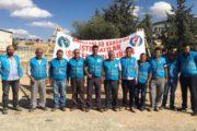 Gaziantep'te Babacan Kargo tarafından işten çıkarılan emekçiler 630 gündür eylemde
