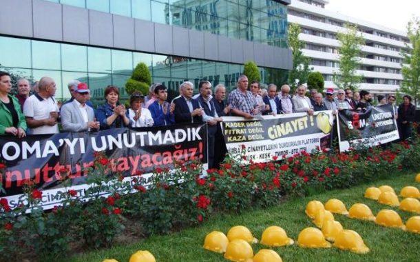 Soma'da yaşamını yitiren işçiler anıldı