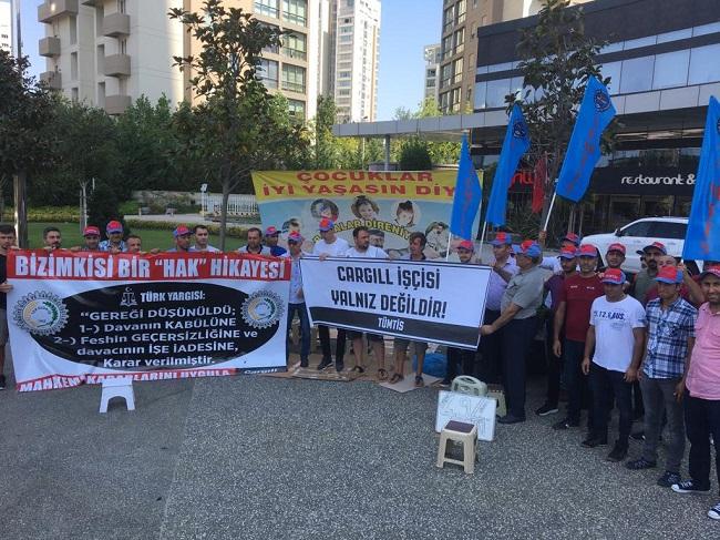 Direnişteki Cargill işçilerine destek verdik