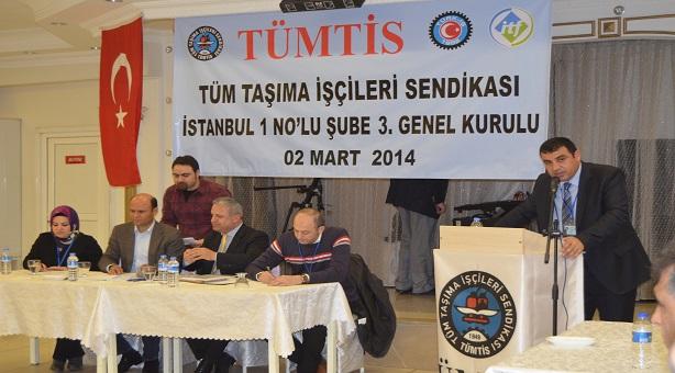 İstanbul 1 No'lu Şubemizin 3. Olağan Genel Kurulu Yapıldı