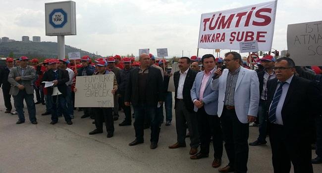 TÜVTÜRK-Ankara'da İşten Atma Protestosu