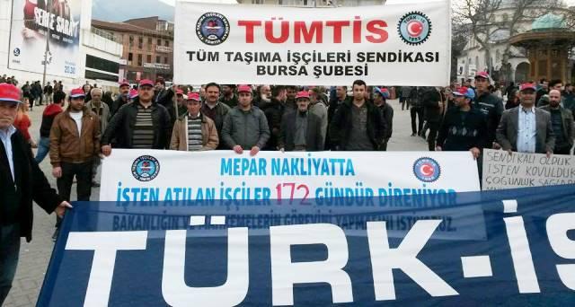 Bursa'da Kıdem Tazminatı Eylemi