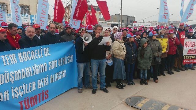 TEM Kocaeli'de İşten Atma Protesto Edildi