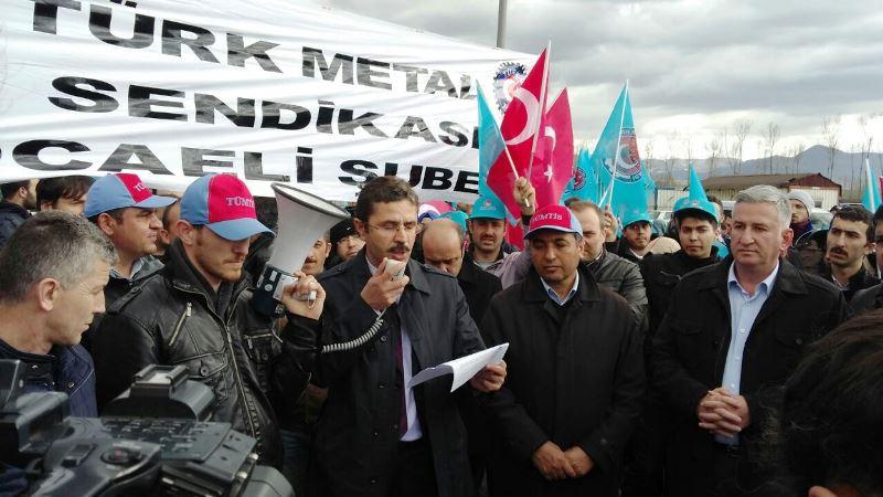 Türk İş Kocaeli Şubelerinden Tüvtürk Direnişimize Destek