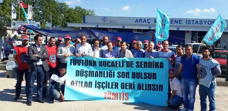 KESK'ten Tüvtürk İşçilerine Destek Ziyareti