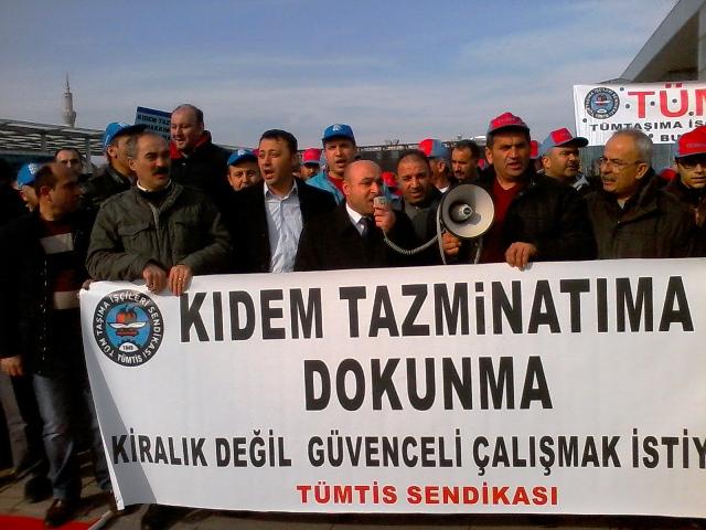 Bursa'da Kitlesel Açıklama; Kıdem Tazminatı Hakkıma Dokunma!