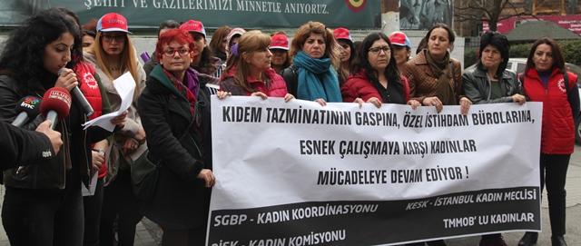 Emek ve Meslek Örgütlerinden Kadınlar 'Çifte Sömürüye Hayır' Dedi