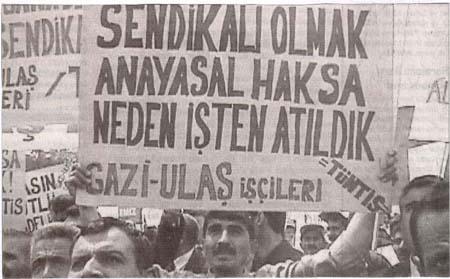 GAZİ-ULAŞ'TA HUKUKSUZLUĞA SON VERİLMELİ İŞTEN ÇIKARILAN İŞÇİLER DERHAL GERİ ALINMALIDIR!